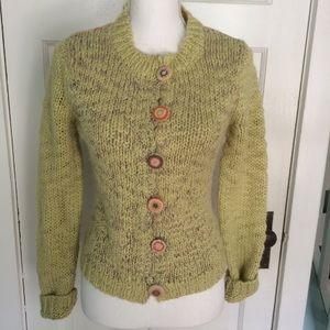 Apt 9 Chunky Knit Multicolored Cardigan Sweater, S